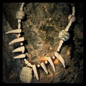 Stone tribal necklace